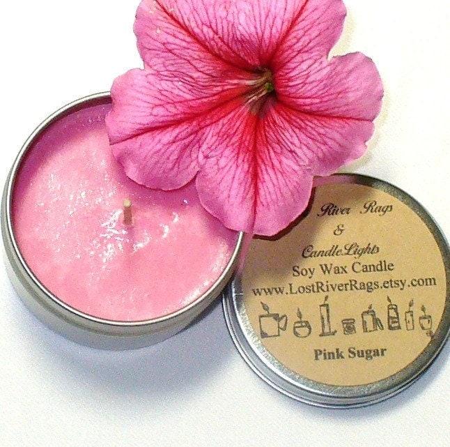 Pink Sugar Soy Candle 4oz.