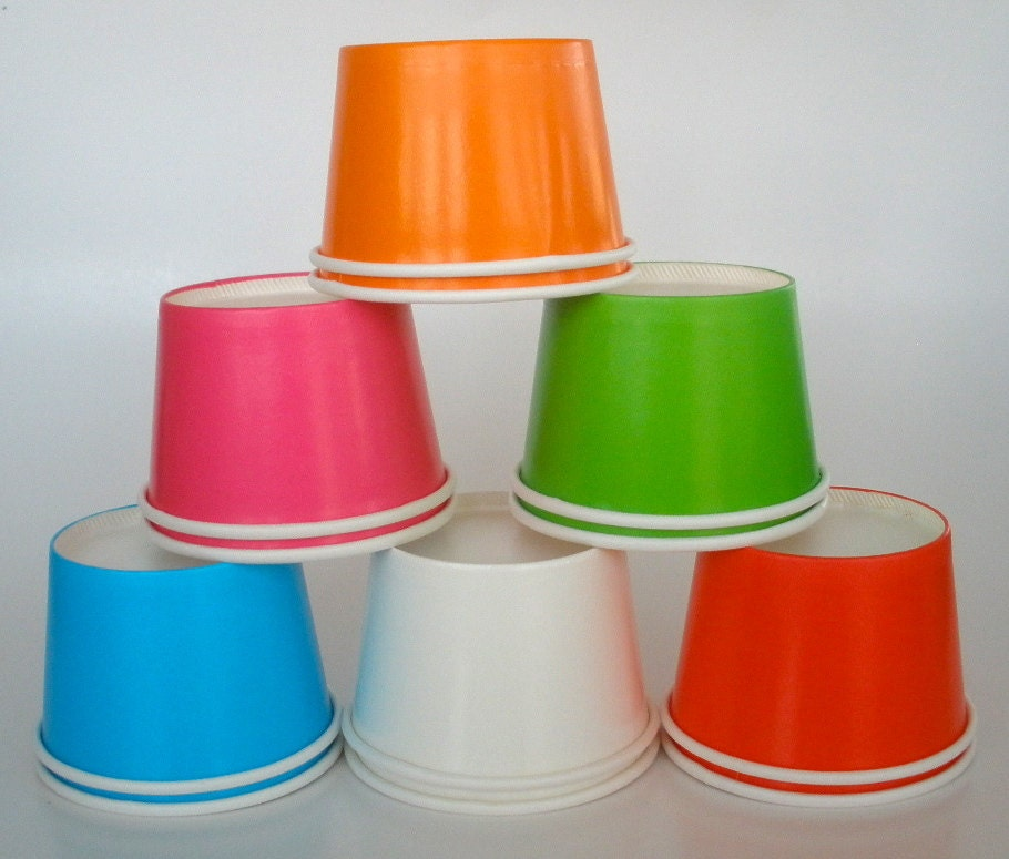 15 Ice Cream Cups Paper Cups, 8 oz. Strong & Sturdy Yogurt Cups Fruit ...