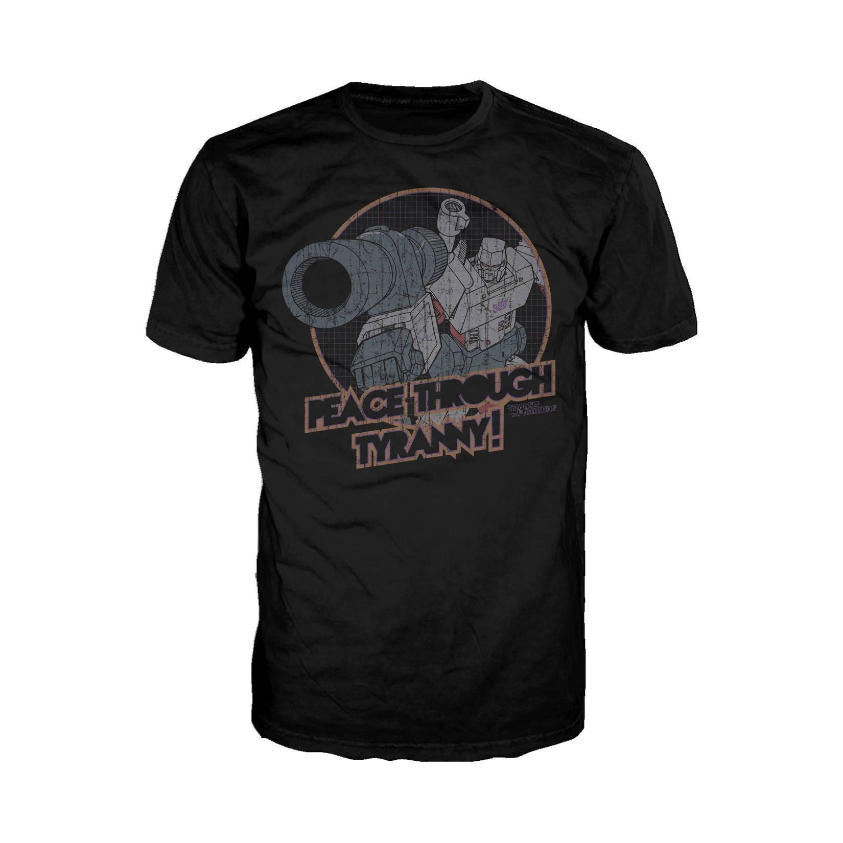 Transformers Megatron Tyranny Official Hasbro Mens Tshirt (Black)