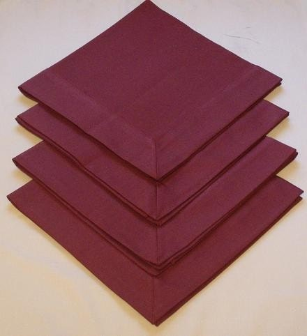 Burgundy Tailored Dinner Napkins (Set of 4)