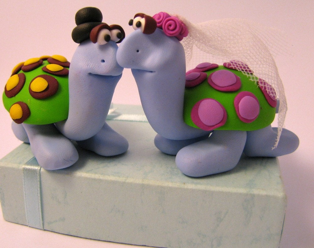 turtle wedding cake toppers