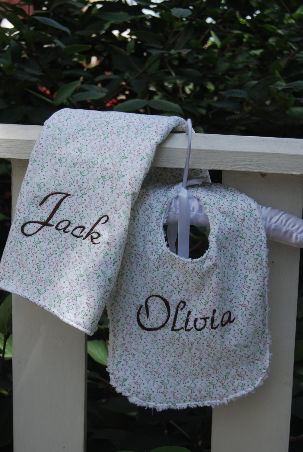 Handmade Personalized Baby Gift Set - Little Chicks