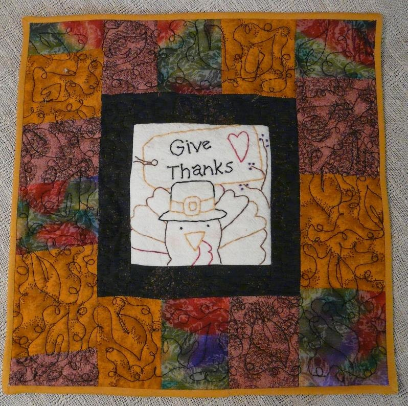 Thanksgiving Give Thanks lil stitchery E PATTERN  - Turkey tag wallhanging hand pilgrim embroidery primitive