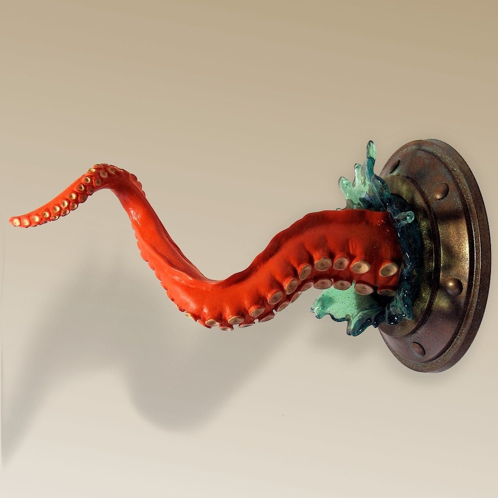 Small Wall Tentacle with Splash