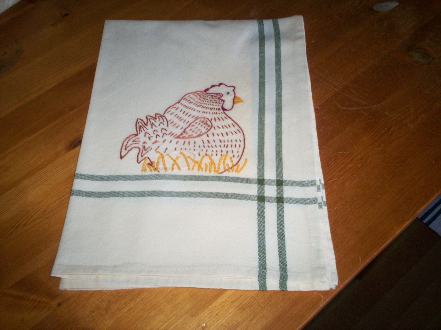 Kitchen towel - chickens and hens - Sale - Price Reduced