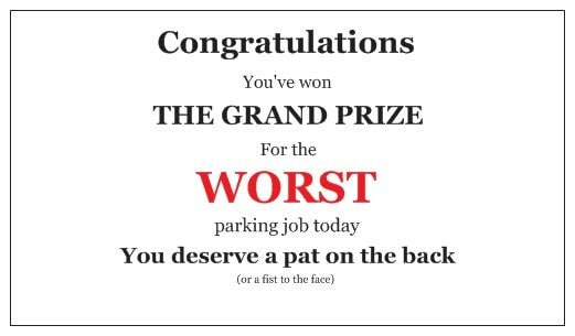 Parking tickets for assholes sympathise with