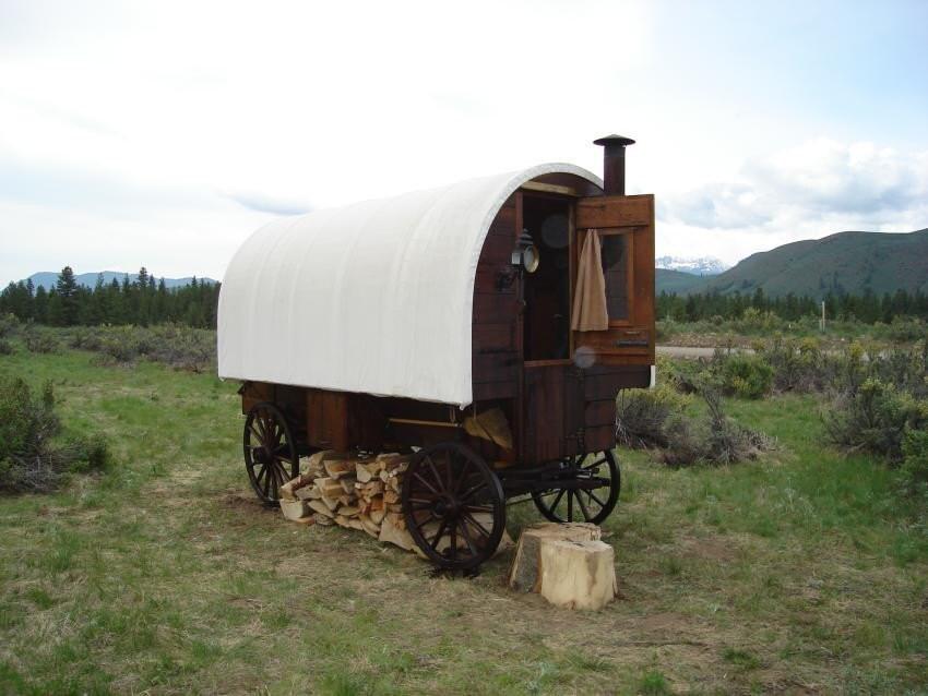 sheepwagon  sheep camp
