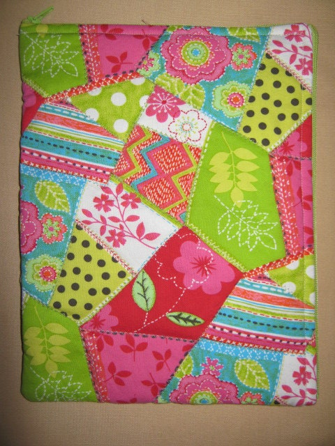 Nook Tablet Kindle Fire Cover Quirky Quilt pattern by Caosta