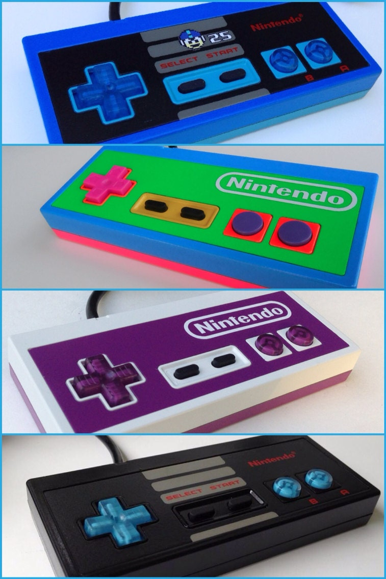 Custom Original Nintendo NES controller for Retro Gaming LSDJ - 8BitAestheticsCom
