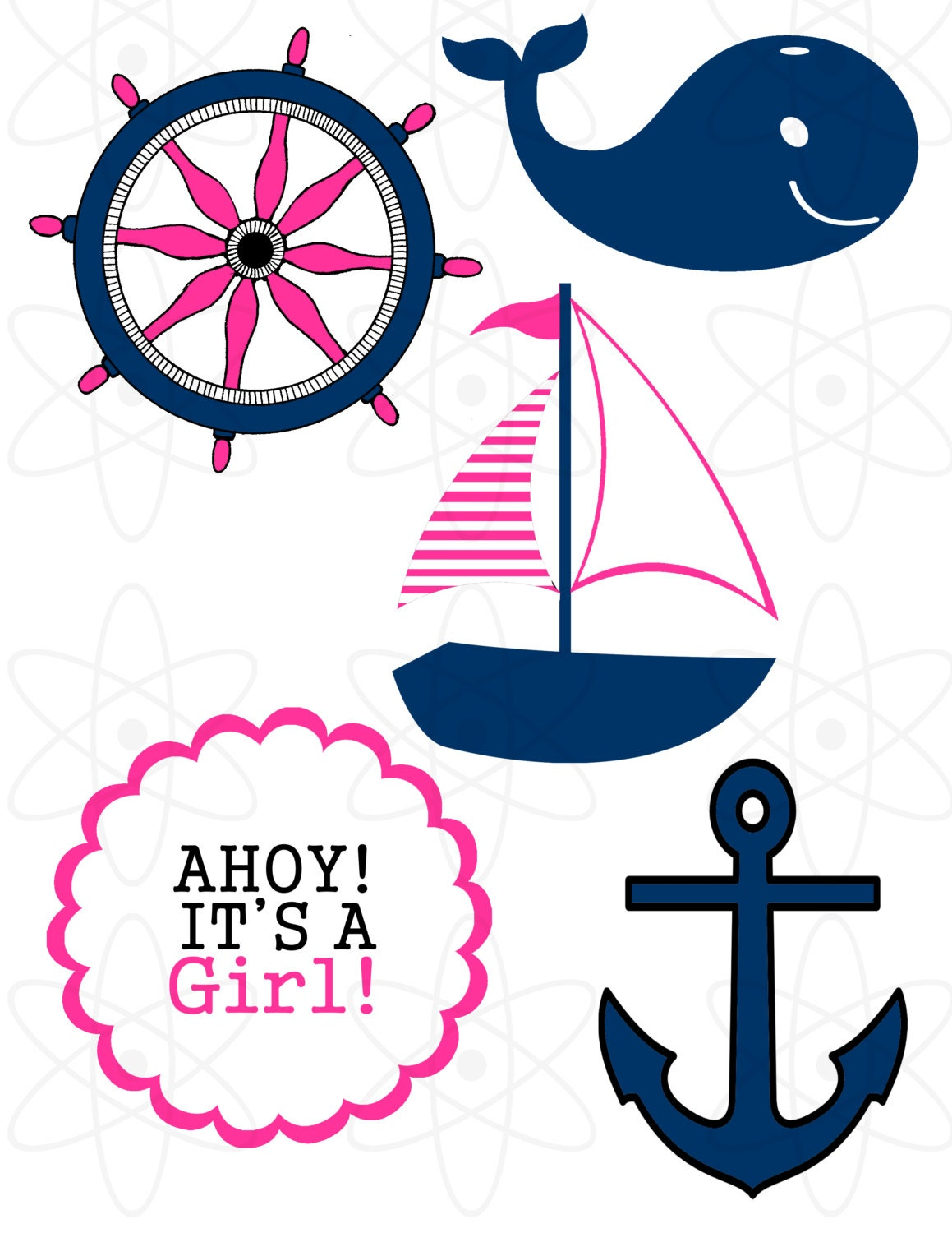 nautical theme girl baby shower