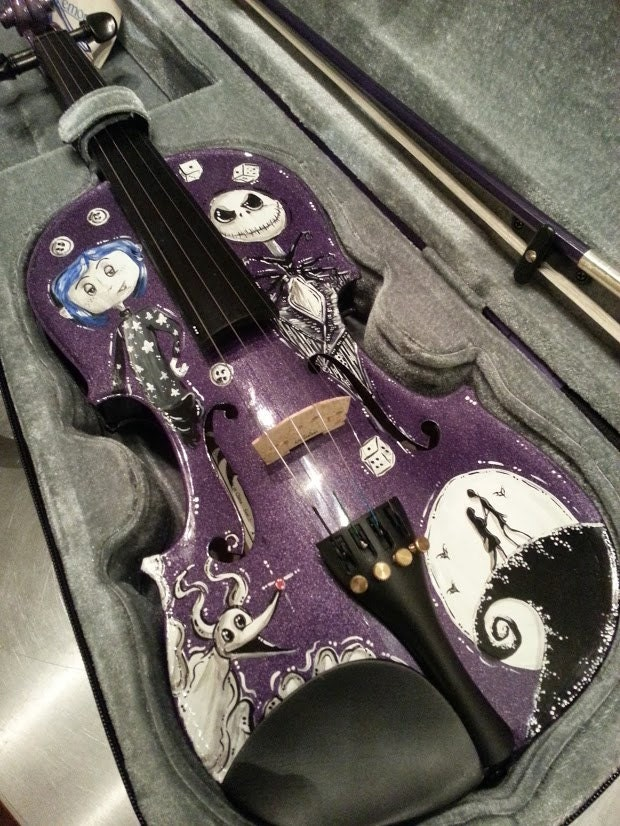 ... Coraline and Nightmare Before Christmas Tim Burton Inspired Violin