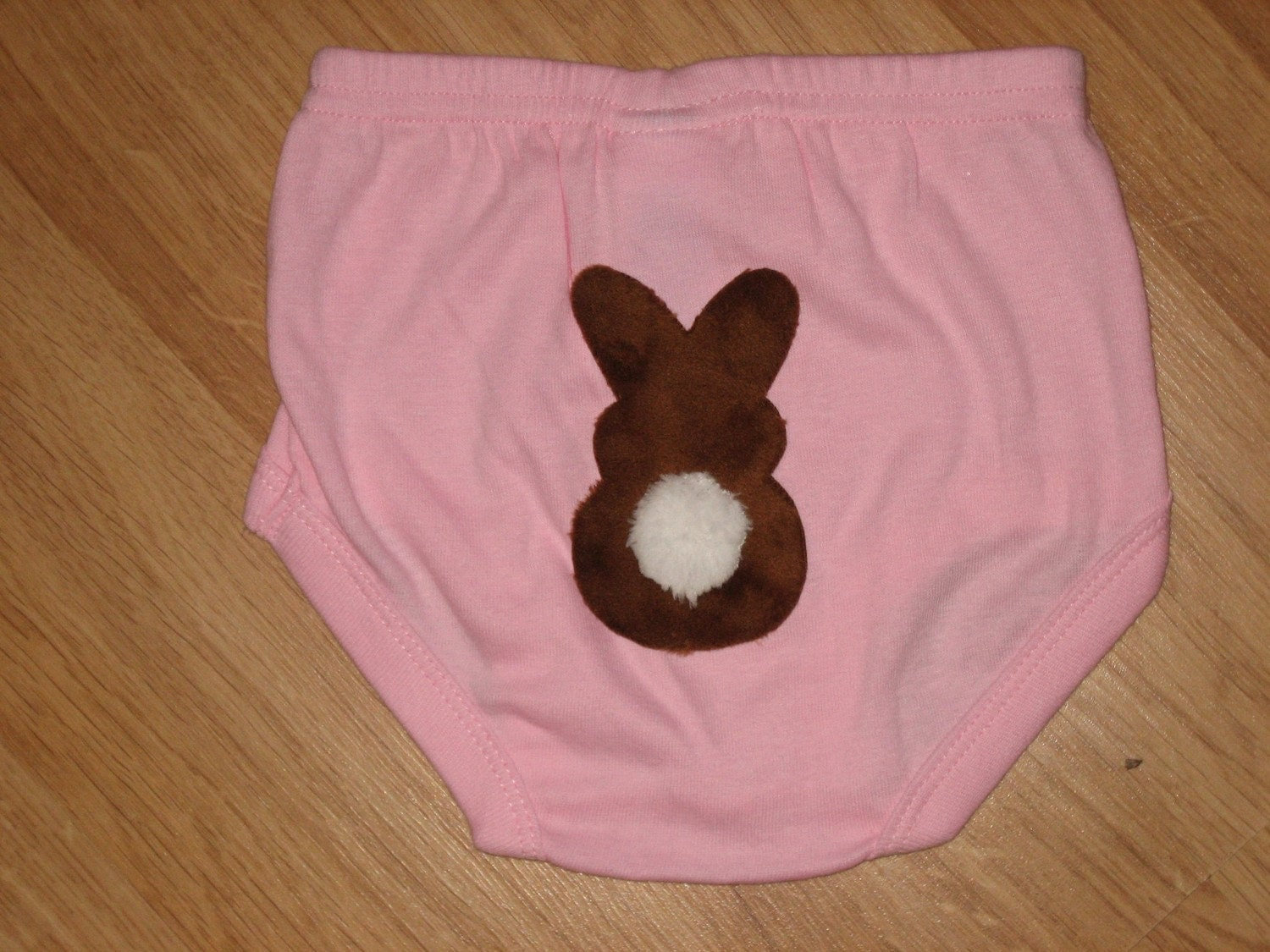 Chocolate Easter Bunny diaper cover/bloomers in Blue, Pink or White