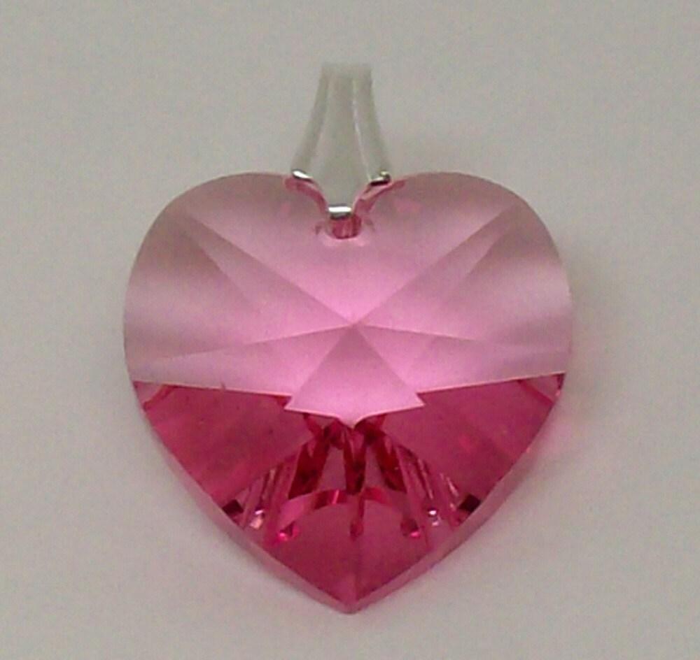 Swarovski Rose Heart Pendant
