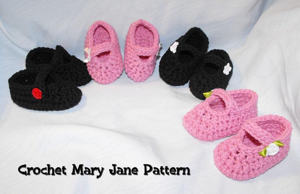 Mary Jane Baby Booties Crochet Pattern Allfreecrochetcom Inducedfo