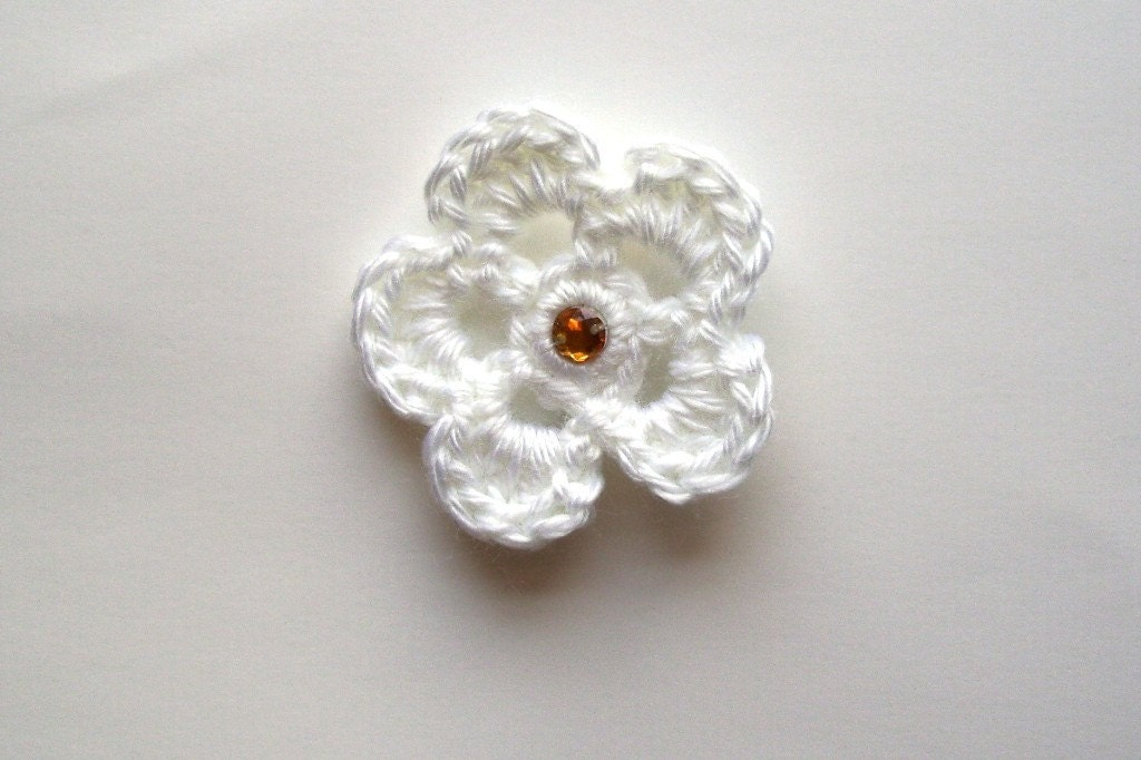 White Flower Baby Barrette