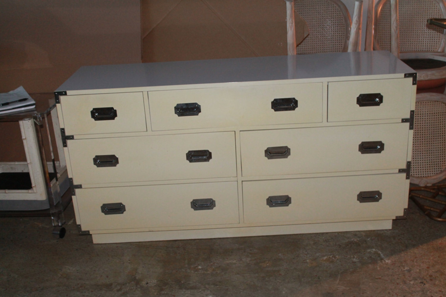 Vintage Campaign Campaigner Dixie Furniture By Feelinvintage