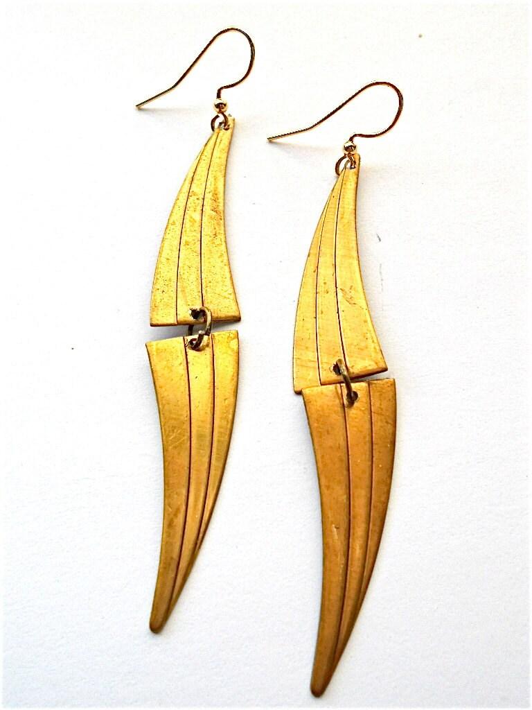 Pani Brass Earrings
