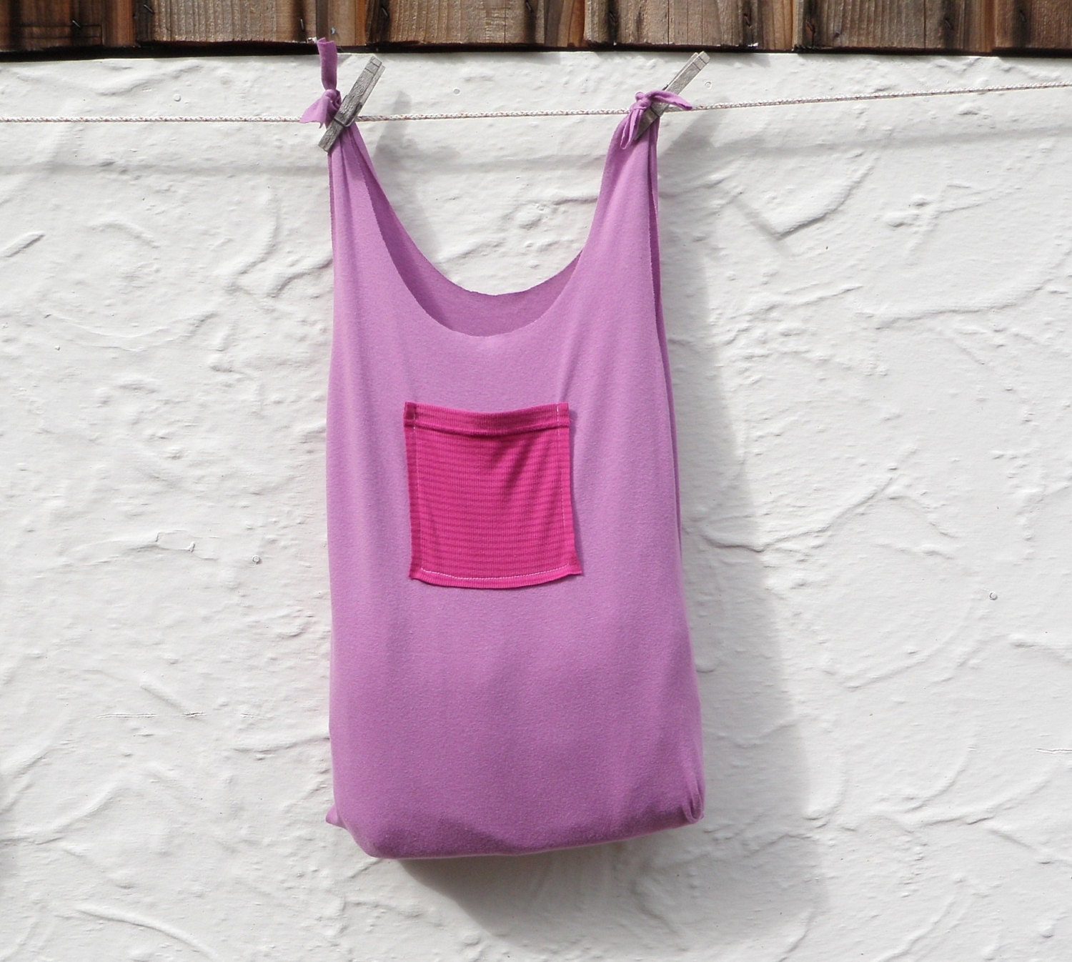 Reusable grocery bag compact fold up market tote by for Reusable t shirt bags