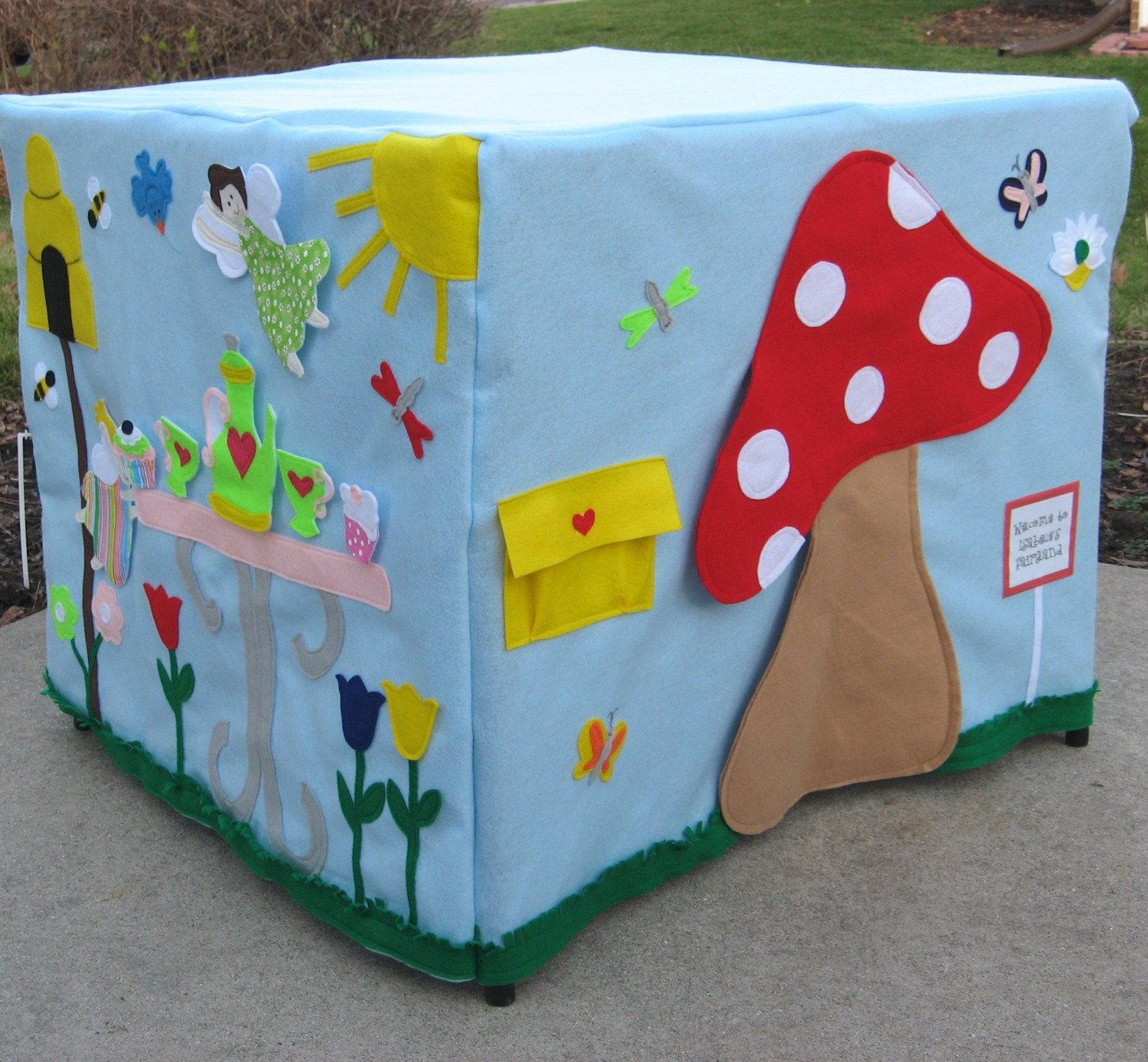 The Fairy's Tea Party, Card Table Playhouse, Personalized, Custom Order