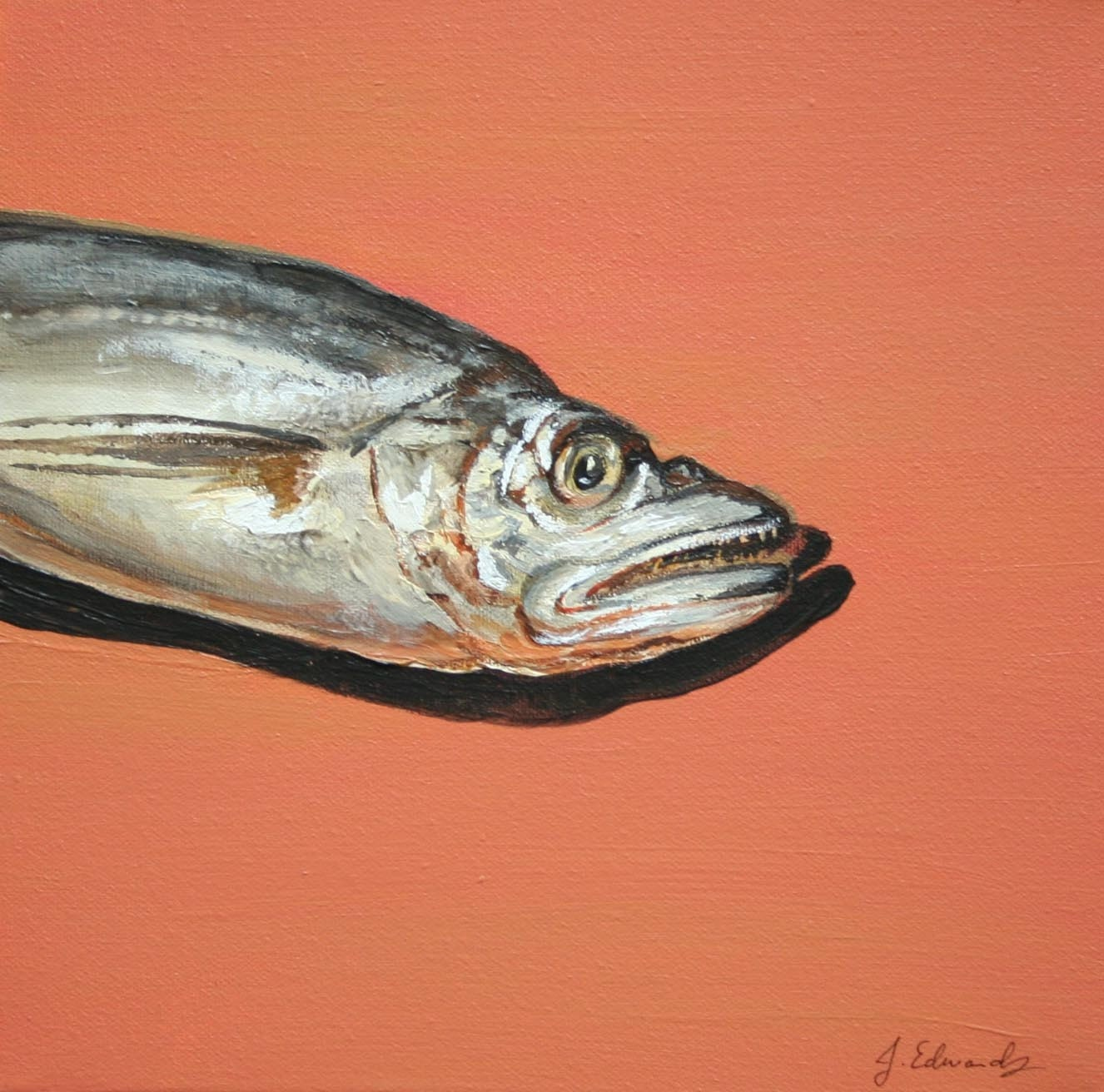 Merluzzo whiting fish original acrylic painting by jodyvanb for Your inner fish sparknotes