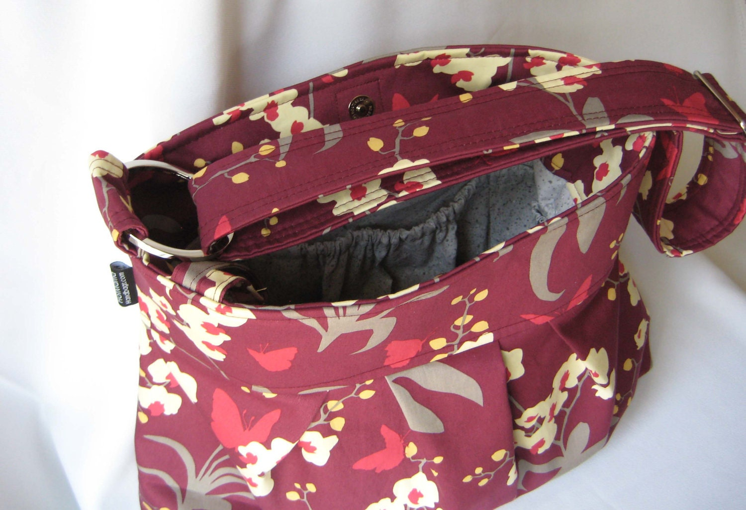 Ginseng Orchid Mulberry Emma Medium Messenger by maranda lee  diaper bag purse out of print limited custom