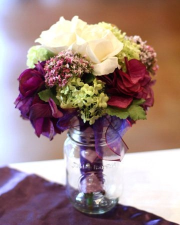Small Eggplant Soft Green Bridesmaid Bouquet By