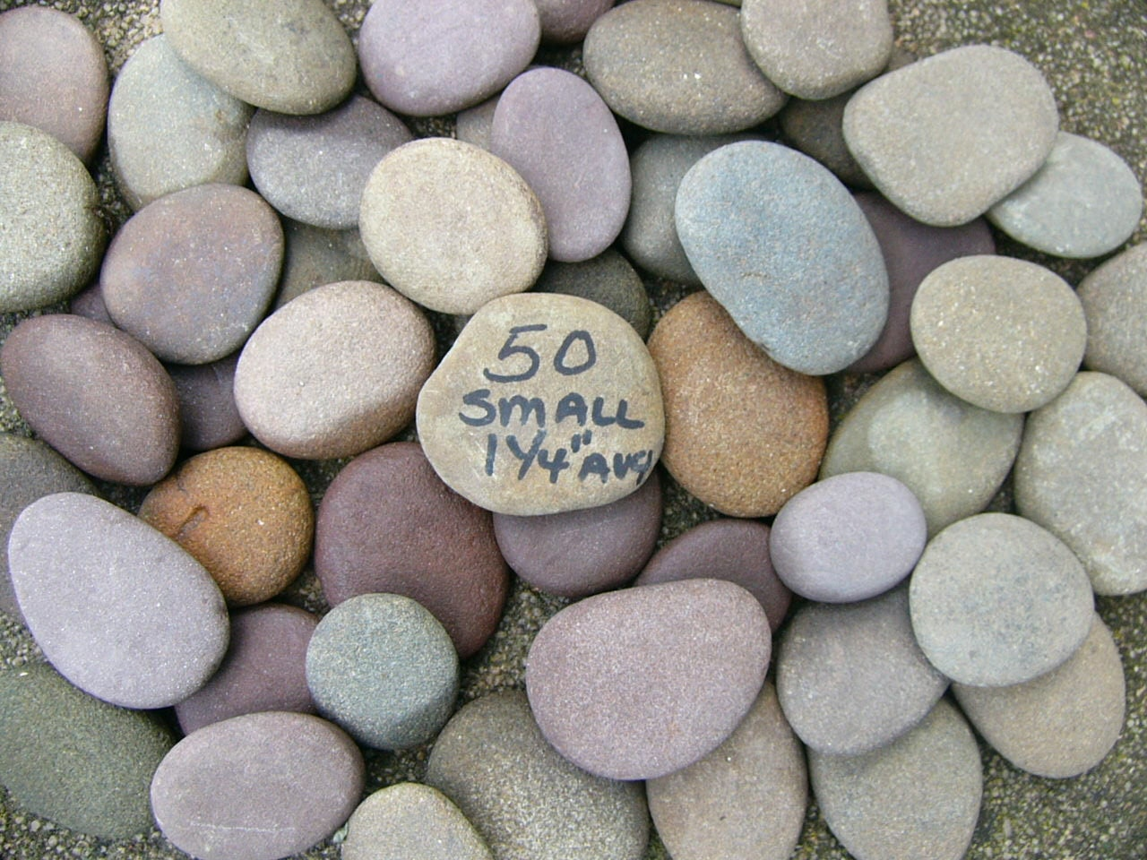 Small river rocks rounded flat on both sides for by for Small river pebbles