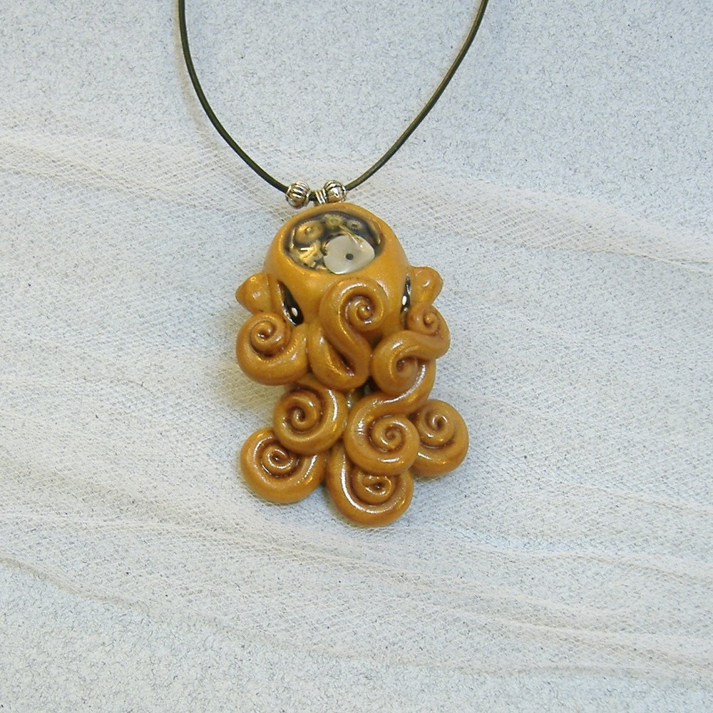 Brass Steampunk Octopus necklace ($35)