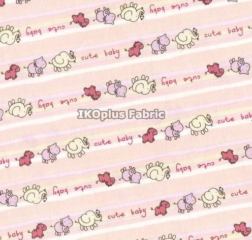 baby animals pictures to color. Cute Baby Animals Color Stripe in Pink - Half Yard - EK-QS38168B. From ikoplus