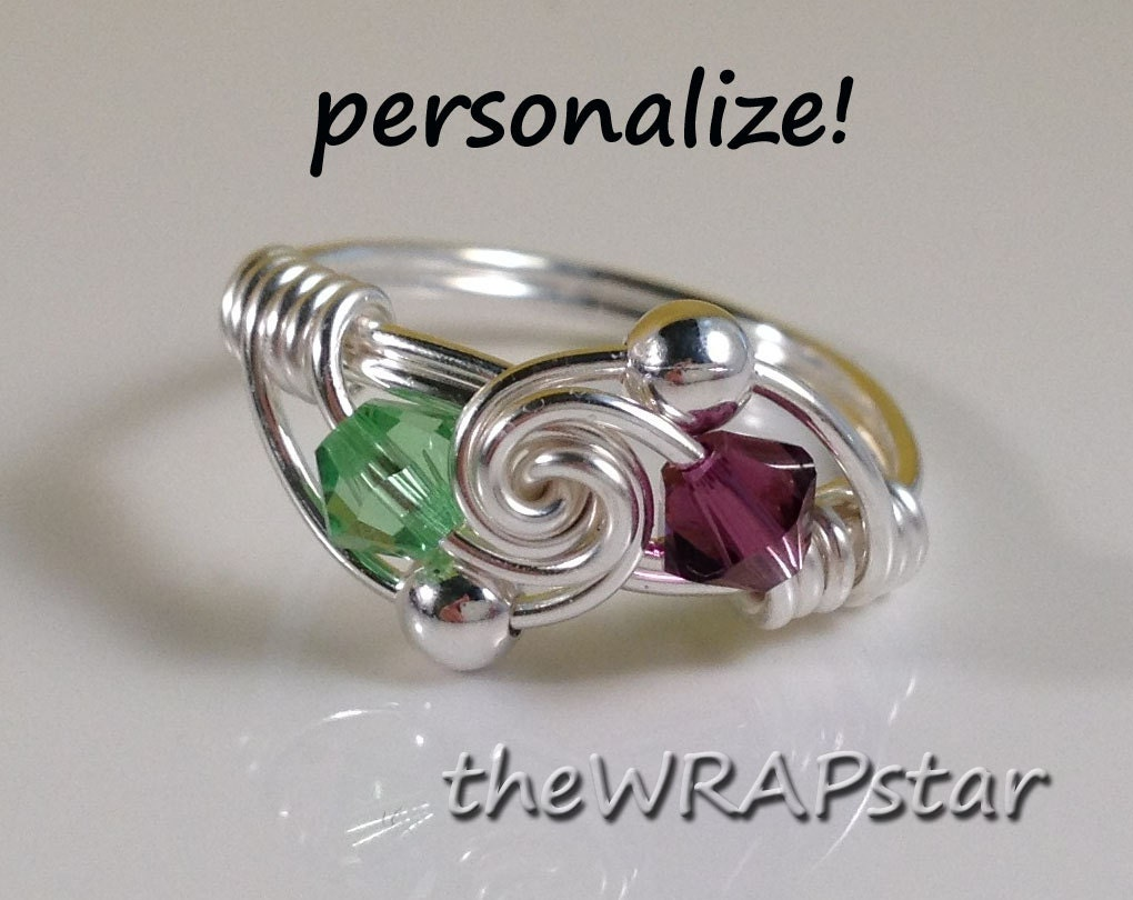 Friendship Ring Wire Wrapped Jewelry Handmade Best by theWRAPstar