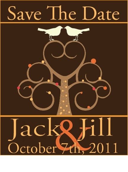 Save The Date DIY Wedding Fall Love Birds From HECart