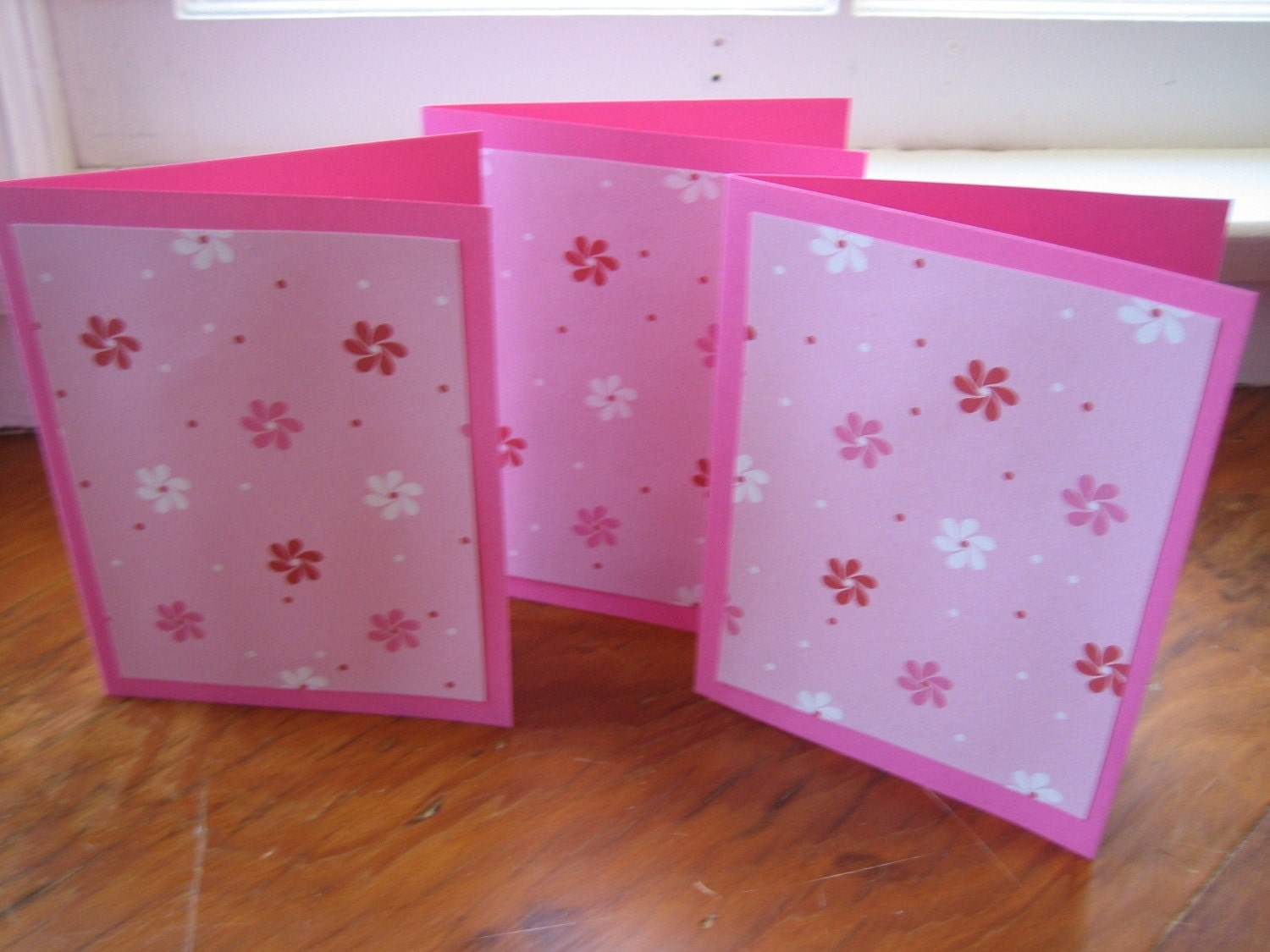 SALE - Flower Shimmer Greeting Cards - Set of Three
