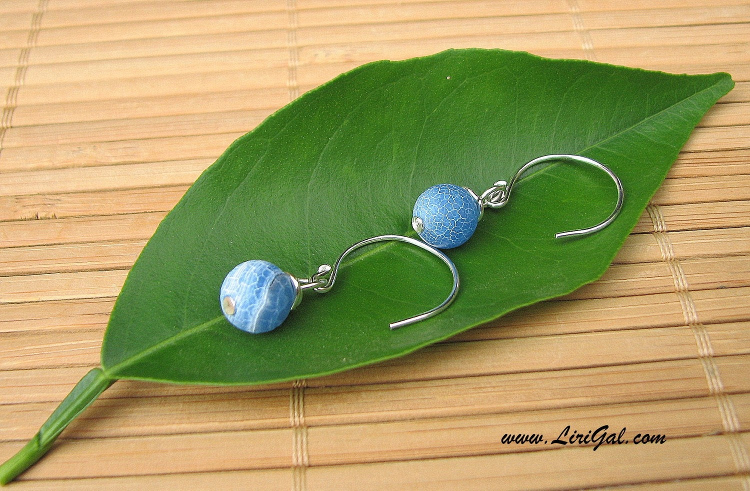 Sky Blue Sterling Silver Earrings