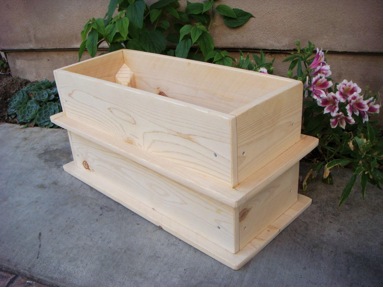 Wood planter flower box vegetable garden by redcedarwoodcraft