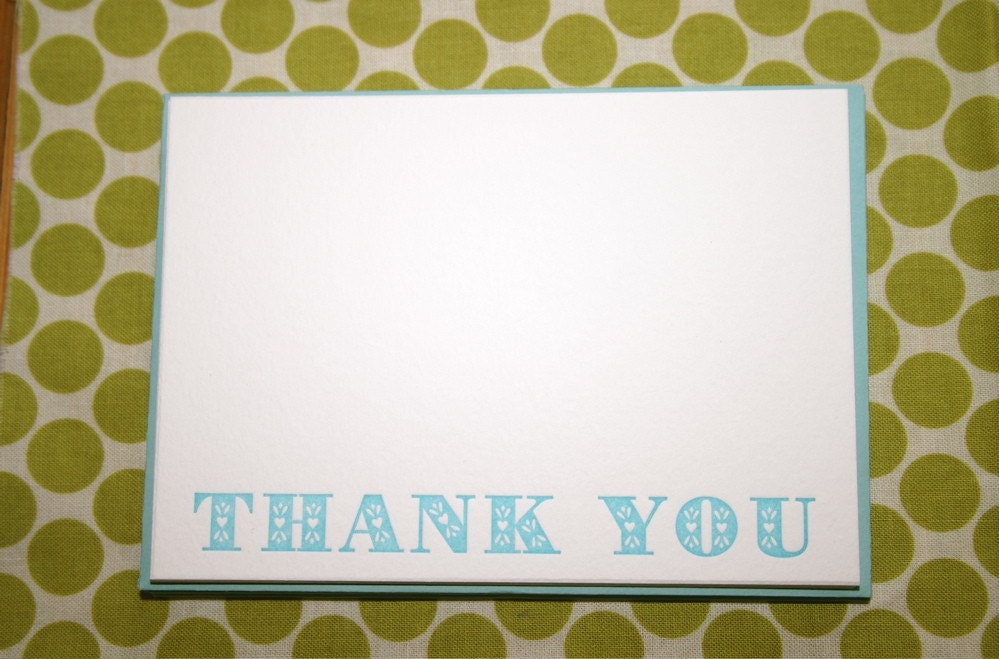 folky THANK YOU set (turquoise)