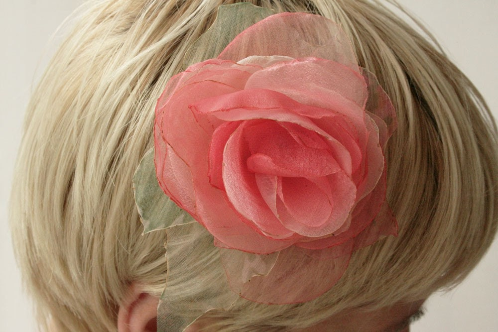 PINK-bridesmaid hair pin-hair clip-brooch