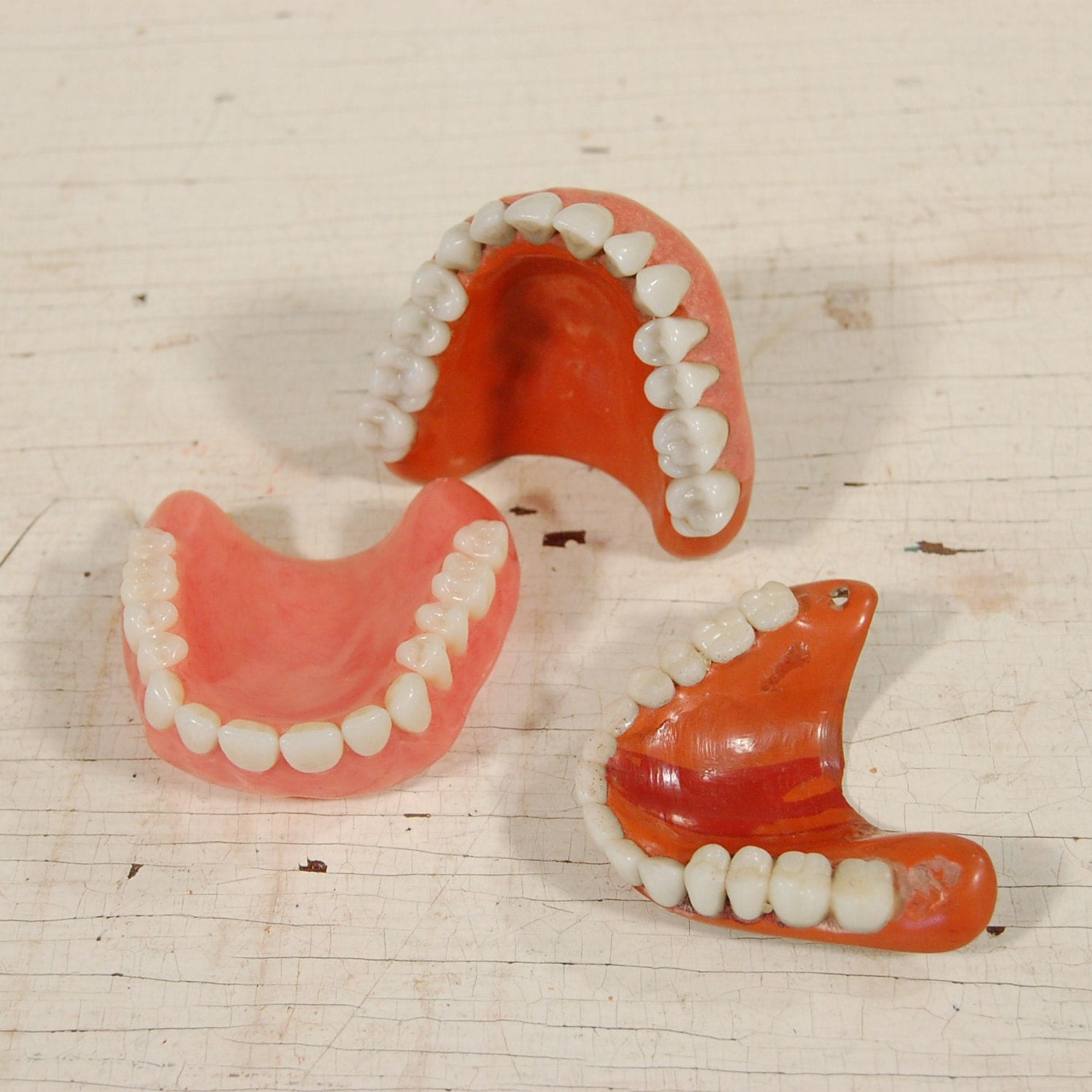 One Row of False Teeth, Vintage Medical/Dental