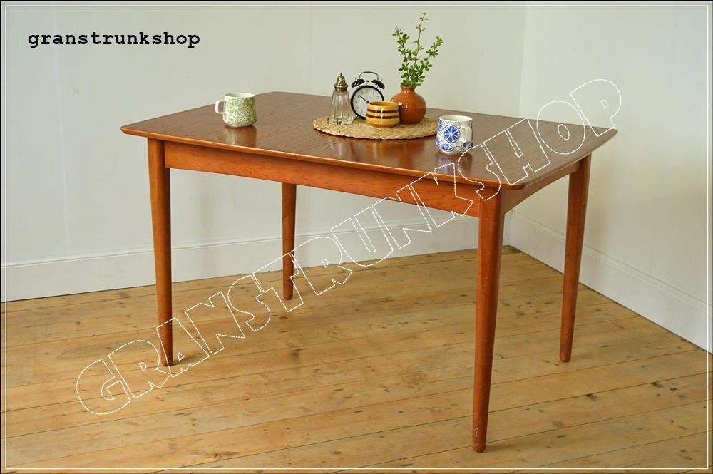 vintage dining table teak danish design mid century