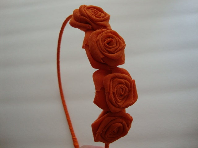 Оранжевые розы головная повязка волос