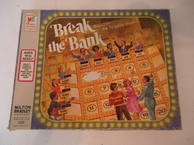 vintage board game break the bank tv game 1977. Black Bedroom Furniture Sets. Home Design Ideas