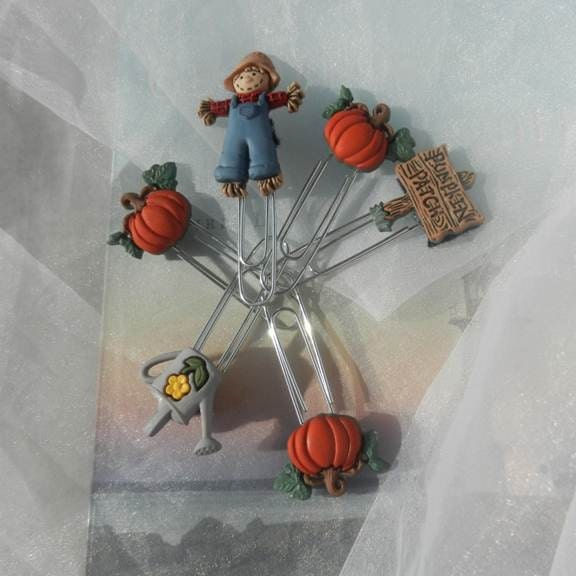 Pumpkin Patch Paperclips Bookmarks