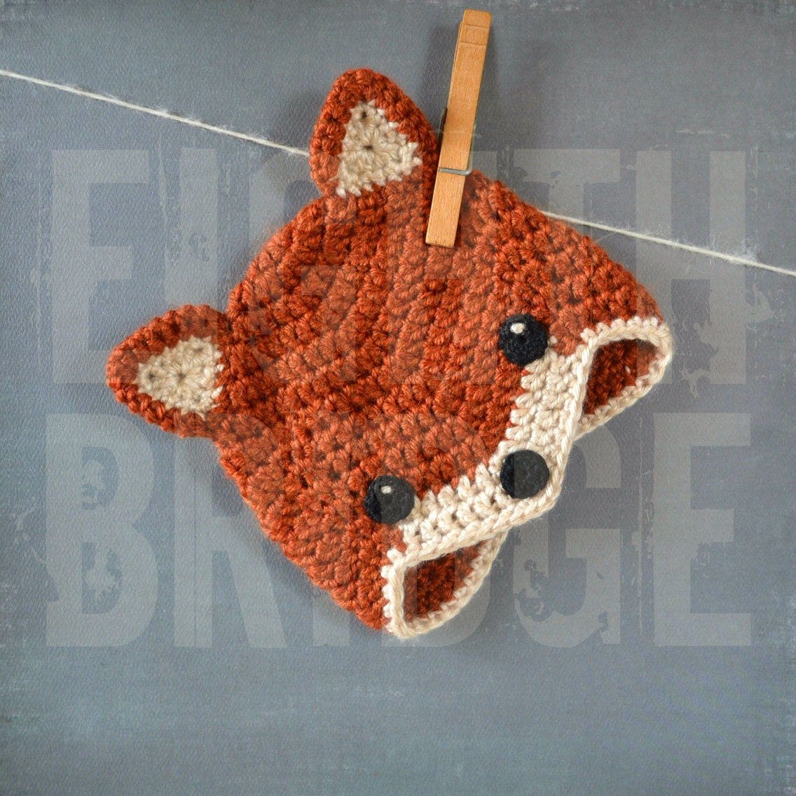 Crochet Fox Hat : Crochet Fox Hat Newborn by EighthBridge on Etsy