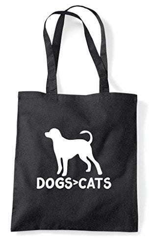 Dogs Are Greater Than Cats Cute Funny Animal Themed Tote Bag Shopper