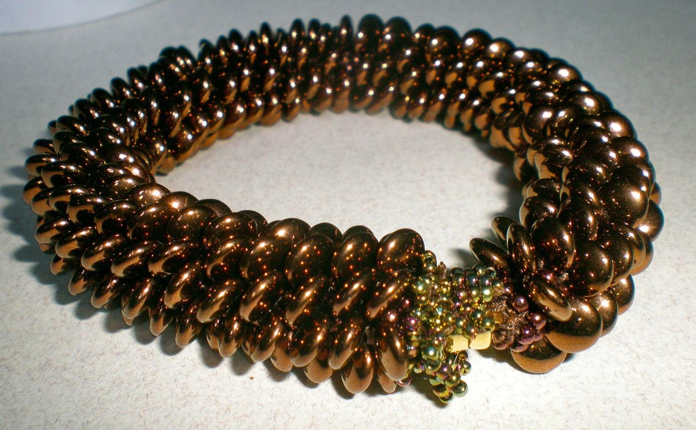 bead crochet pattern lentil bracelet by wearableartemporium