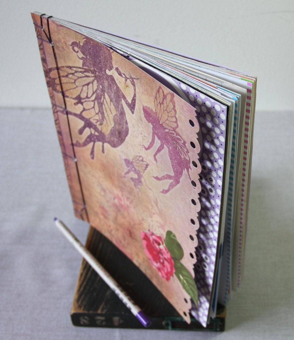 large recycled pages journal - Seven Wishes