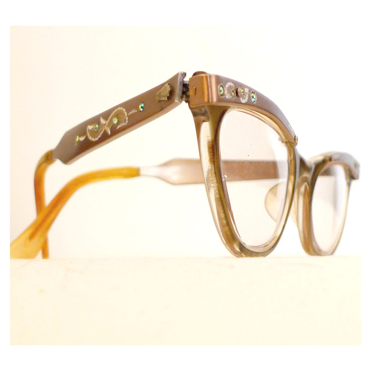 Rhinestone Cat Eye Frames Eyeglasses with Aluminum by ...