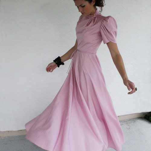 Lavender / Pink Vintage Ballroom Gown