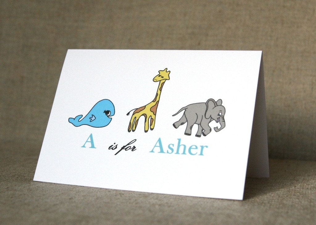 Personalized Stationery - Animal Parade