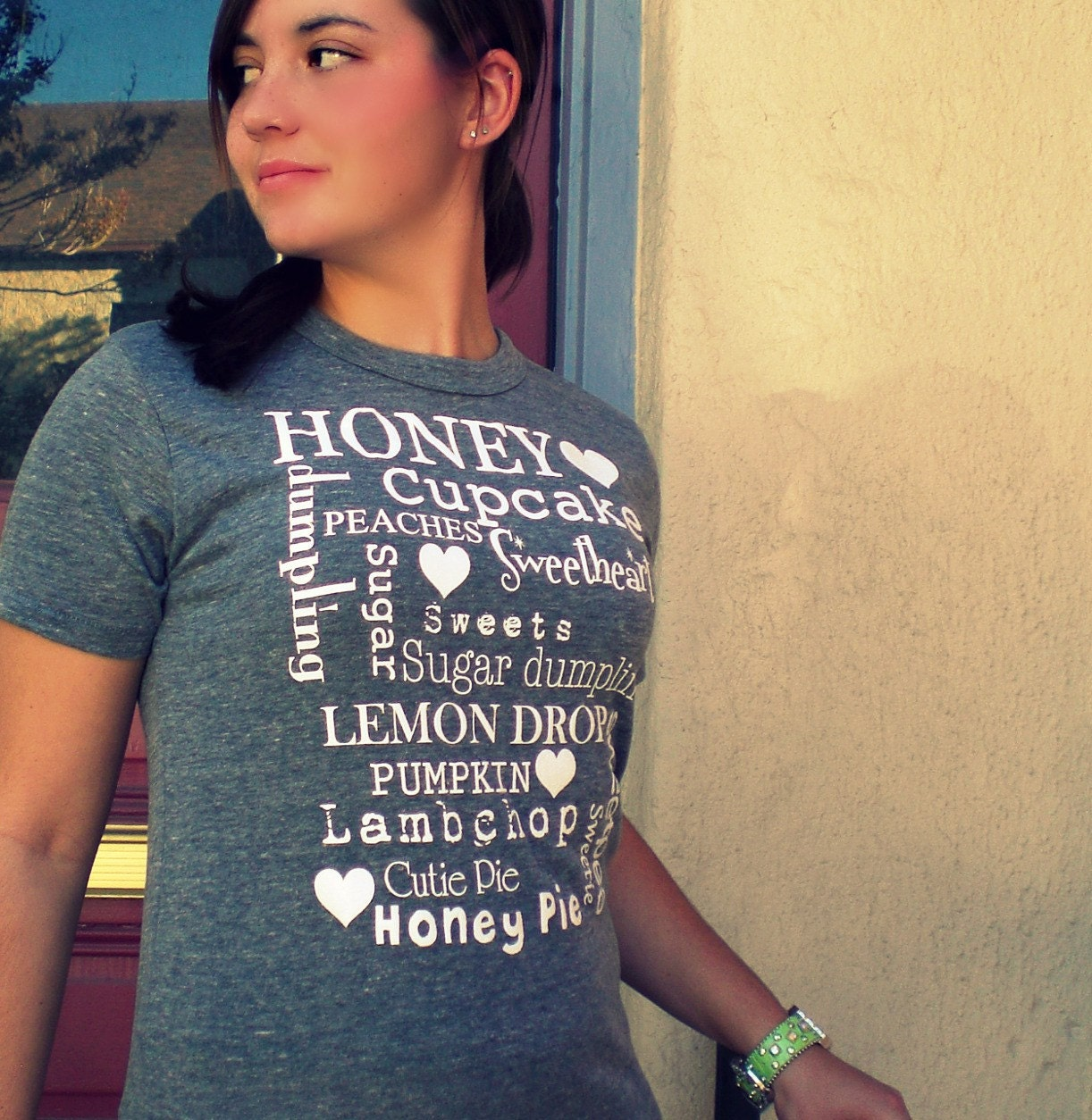 HONEY, SWEETIE, SUGARPIE boyfriend style tee/ XS.S.M.L ORGANIC cotton/ P.E. tee