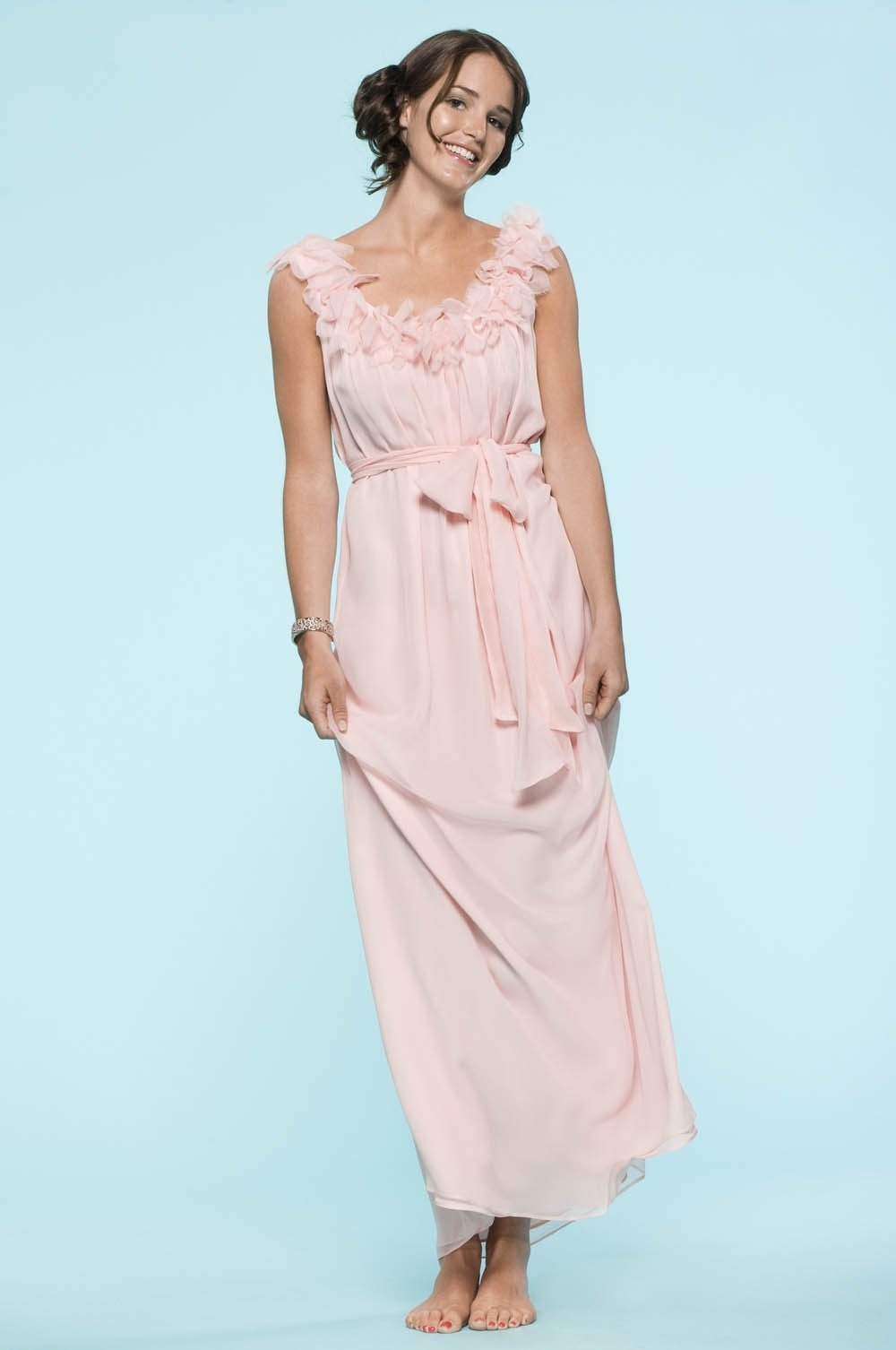 Gadsden Street Dress in Silk Chiffon, $385